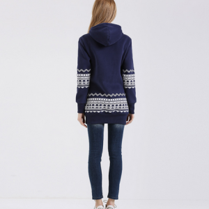 Hooded Sweatshirt Geometric Print