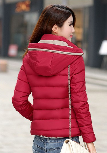 Padded Down Parka Hooded Coat