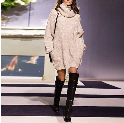 Oversized Jumper Long Sleeve Turtleneck