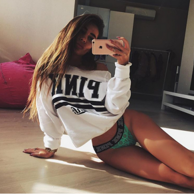 Casual Long Sleeve Kawaii Crop Sweatshirt