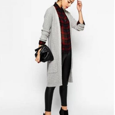 Double Pockets Long Causal Cardigan