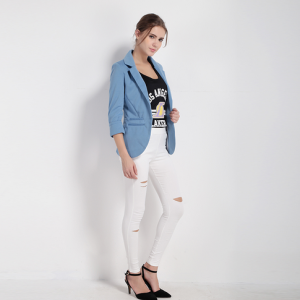 Fit Blazer With Three Quarter Sleeve