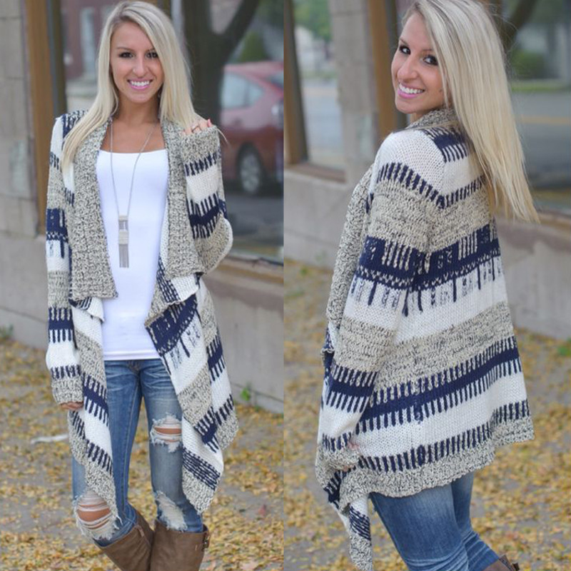 Long Sleeve Thick knitted Cardigan Sweater – Outerwear Fit Style
