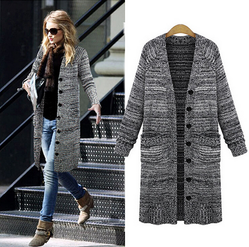 Retro Long Sleeve Cardigan Sweater Coat – Outerwear Fit Style