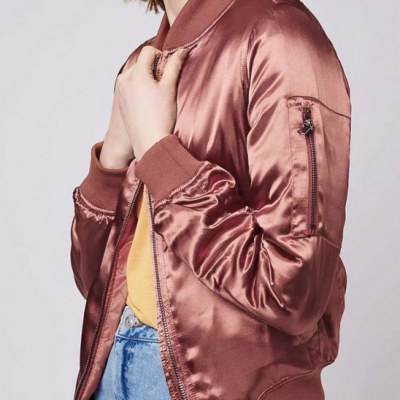 New Fashion Satin Bomber Jacket