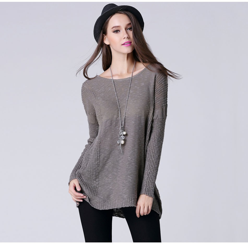 Tunic Women's Long Sleeve Jumper Sweater – Outerwear Fit Style