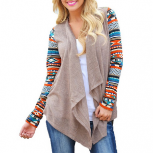 Casual Long Sleeve Cardigan Knit