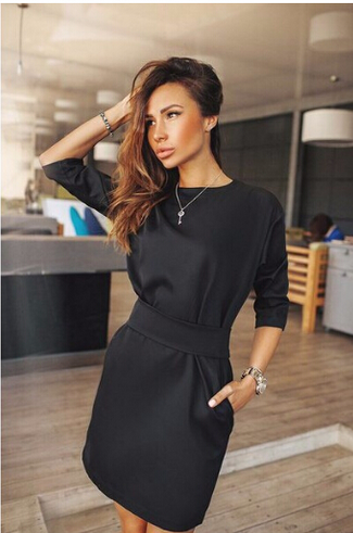 Fall Fashion Casual Mini Dress
