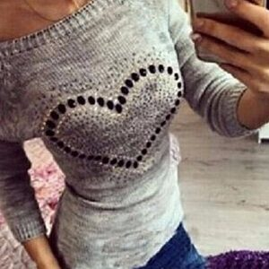 Casual Heart Cotton Sweater