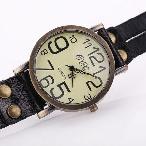 Vintage Cow Leather Bracelet Watch