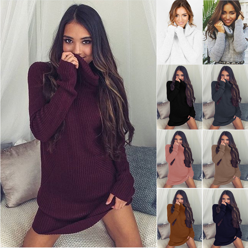 bf1799242e4cb8 Turtleneck Long knitted pullover sweater, Women's Jumper, Casual Sweater 13