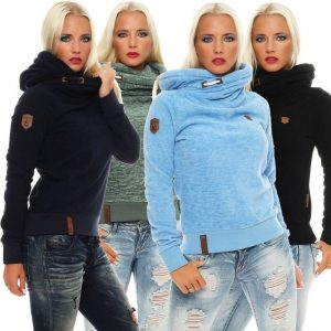 Women's Fleece Hoodies, Ladies Sweatshirts, Casual Solid Long Sleeve