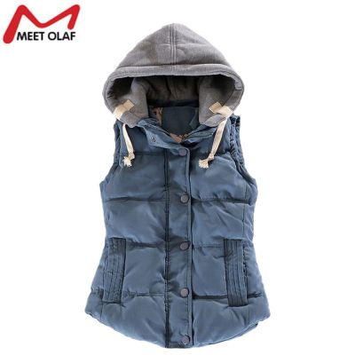 Women's Vest, Female Outwear, Sleeveless Jacket, Winter Down, Cotton Padded, Warm Ladies Waistcoat