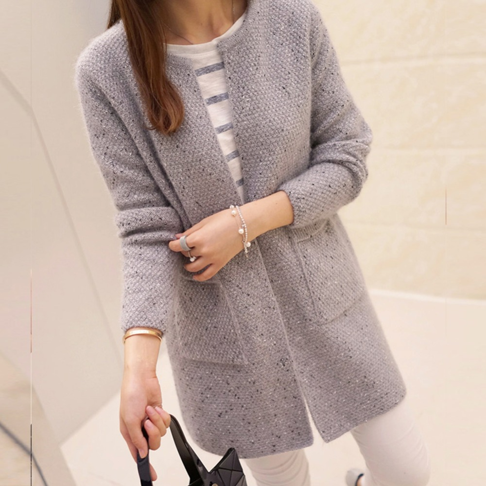 38e4f125973 New Women's Casual Long Sleeve Knitted Cardigan, Crochet Ladies Sweaters  Fashion Cardigan