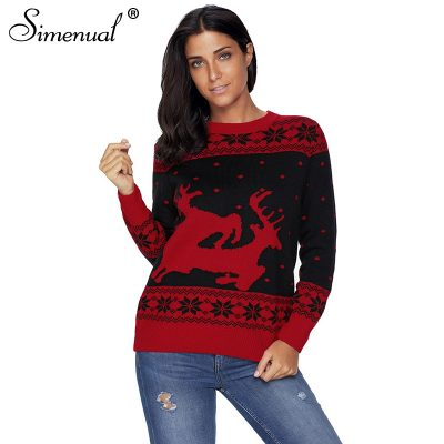 Christmas Collection Sweater, Deer, Snowflake Women's Sweater
