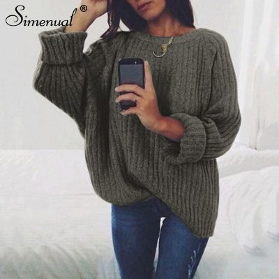 Women's Loose Casual Solid Pullover Knitwear,  7 colors