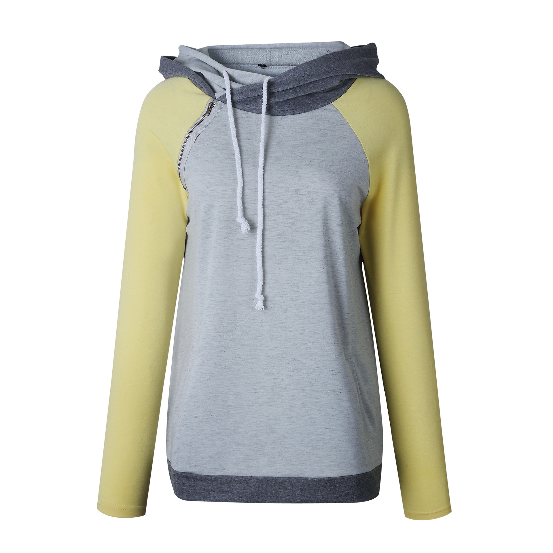 Women's Patchwork Striped Pullover Long Sleeve Hoodie, Tops With Pockets, Hooded Sweatshirt 50