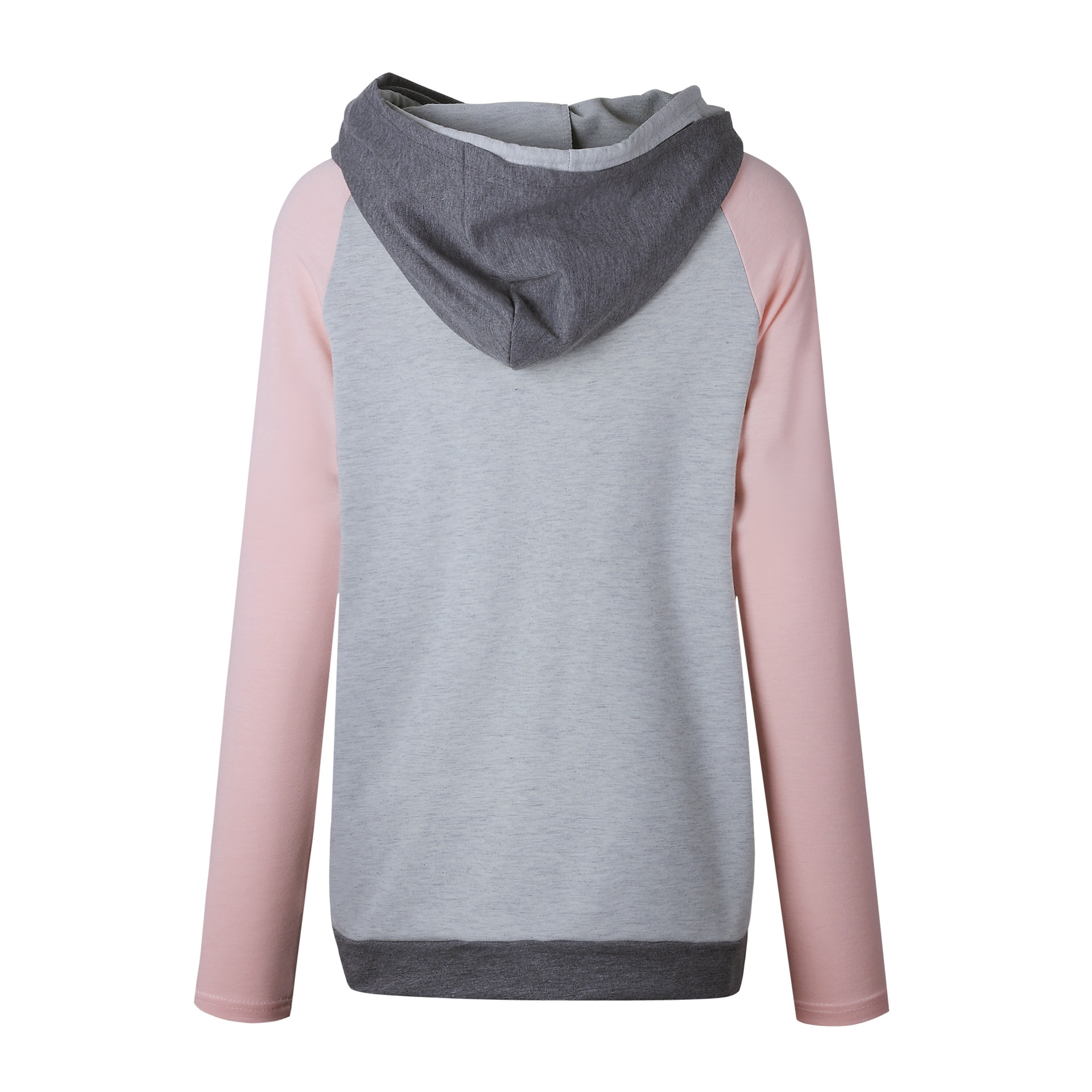 Women's Patchwork Striped Pullover Long Sleeve Hoodie, Tops With Pockets, Hooded Sweatshirt 57