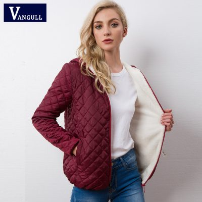 New Parkas basic jackets Female Women Winter plus velvet lamb hooded Coats Cotton Winter Jacket Womens Outwear coat