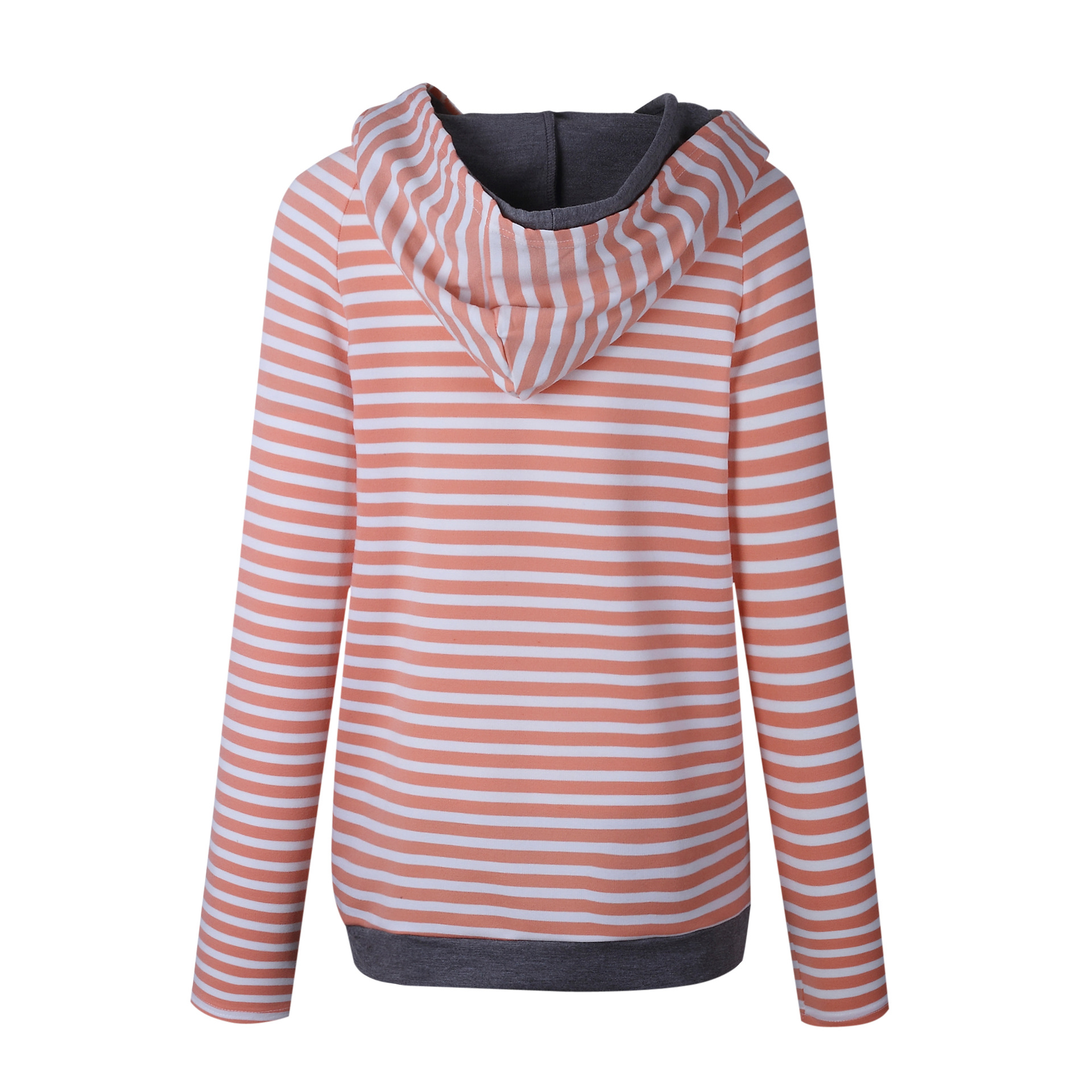 Women's Patchwork Striped Pullover Long Sleeve Hoodie, Tops With Pockets, Hooded Sweatshirt 7