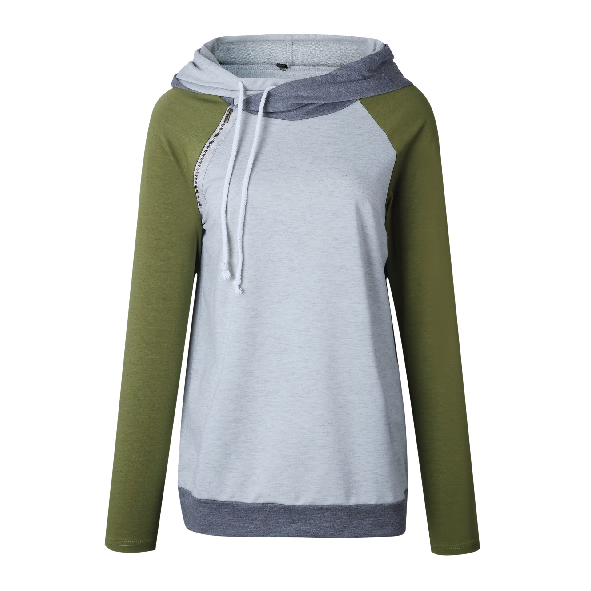 Women's Patchwork Striped Pullover Long Sleeve Hoodie, Tops With Pockets, Hooded Sweatshirt 53