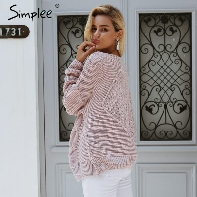 Elegant Cardigan, Women's Twist  knitted Sweater