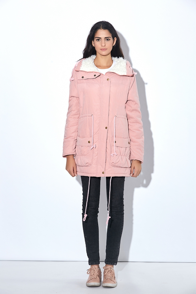Winter Coat, Women's Medium-Long. Hooded Snow Parka 15