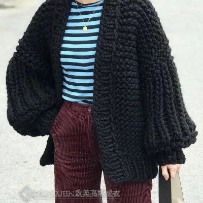 Over-Size Knitted Cardigan Women's Sweater,  Winter Cardigan