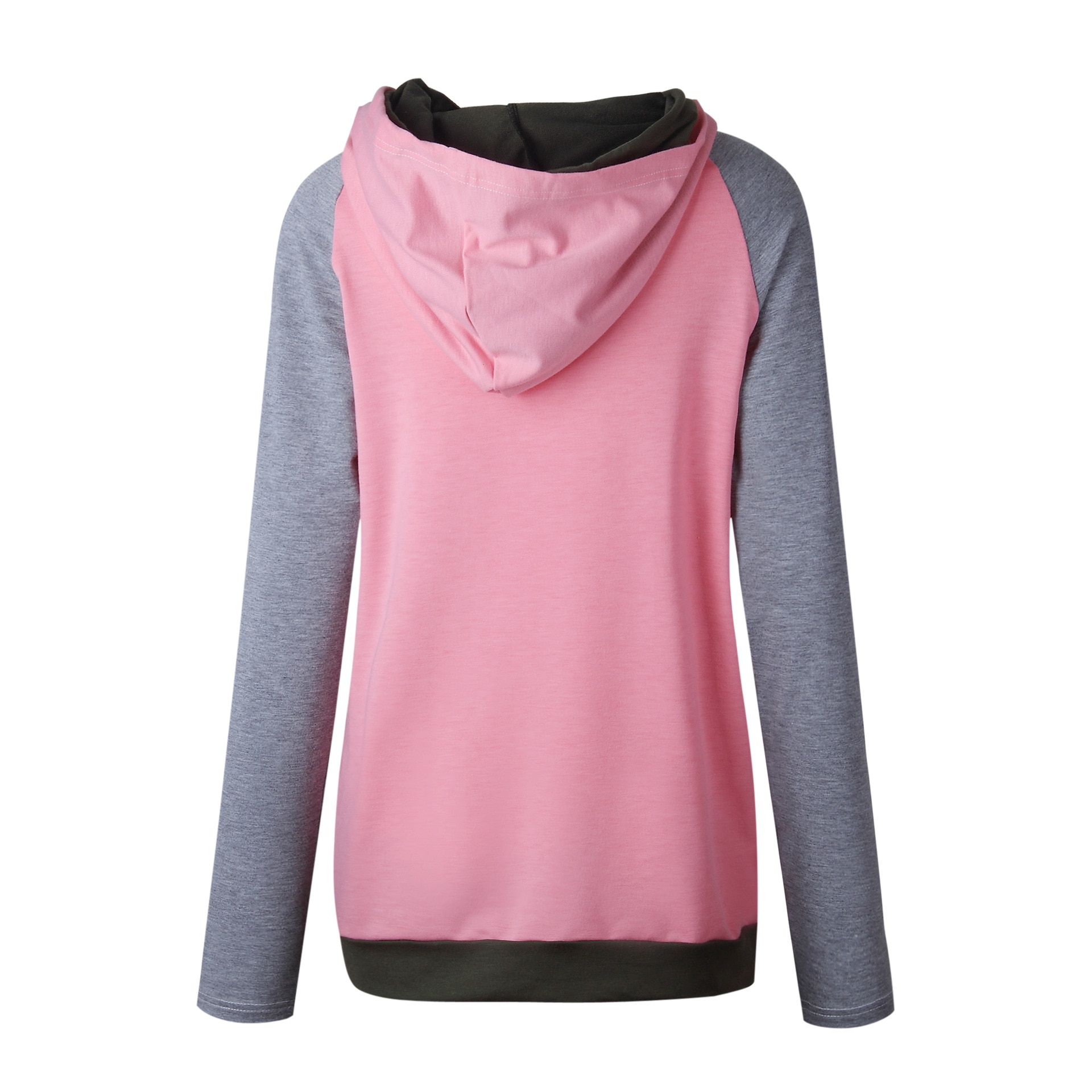Women's Patchwork Striped Pullover Long Sleeve Hoodie, Tops With Pockets, Hooded Sweatshirt 22