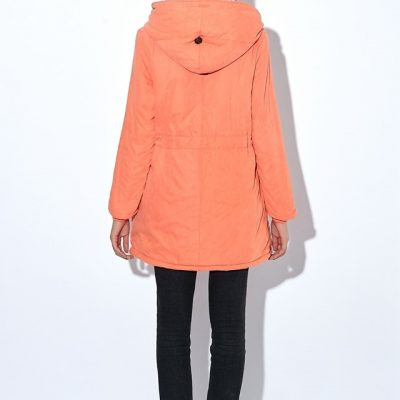 Fleece Women's Winter Jacket, Cotton Long Style Hooded Cashmere Coat