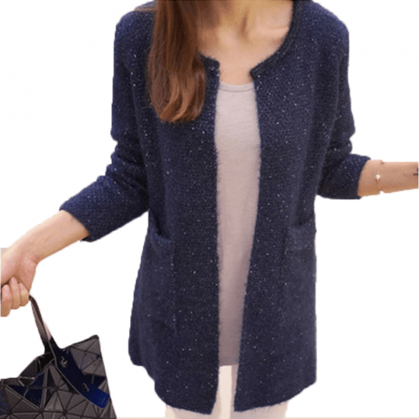 OLGOTUM 2019 New Spring&Autumn Women Casual Long Sleeve Knitted Cardigans Autumn Crochet Ladies Sweaters Fashion Women Cardigan 2