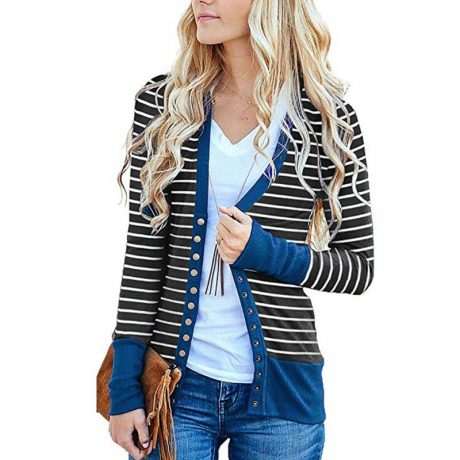 Striped Cardigan Women Sweater Long Sleeve V Neck Casual Knitted Cardigans Mujer 2019 Spring Autumn Winter Female Coat Plus Size 3
